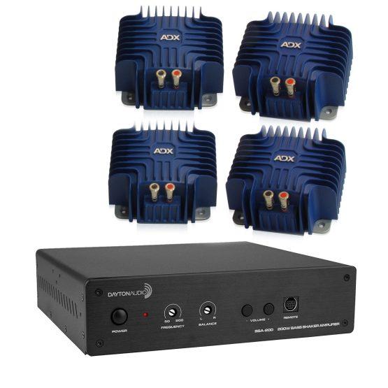 Dayton Audio BSA-200 with 4x ADX Maximus Bass Shakers